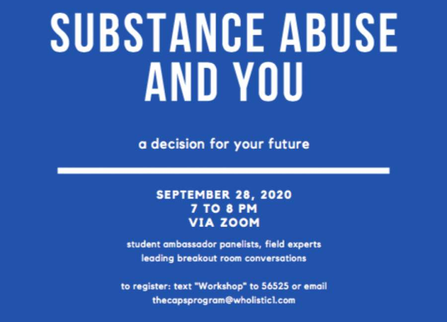 Virtual substance abuse workshop Monday