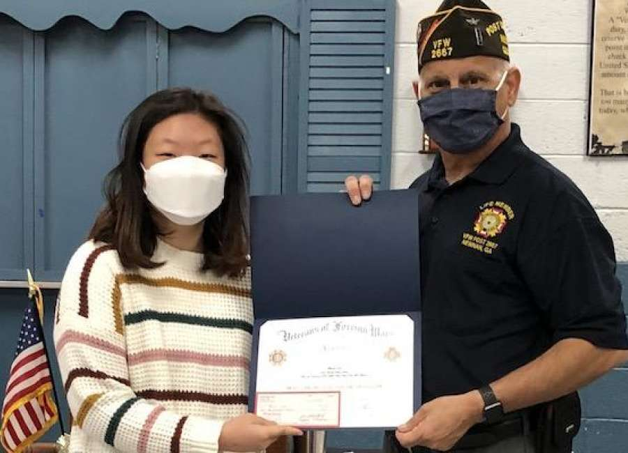 Voice of Democracy contest winner honored