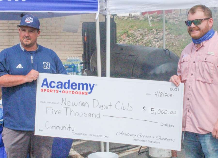 Academy gives $5,000 to Newnan Dugout Club