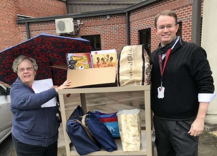 ADK donates books to Ruth Hill students