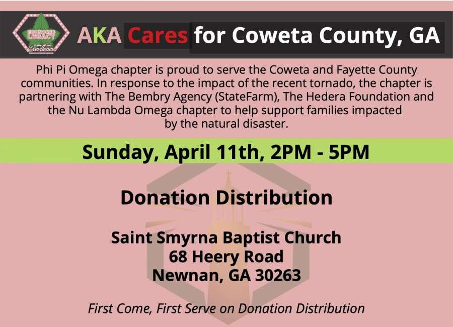 Alpha Kappa Alpha, Phi Pi Omega donate items for tornado victims