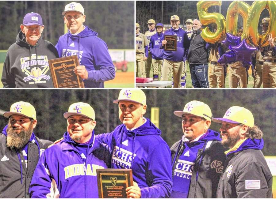 Coach DeLoach celebrates his 500th career baseball win