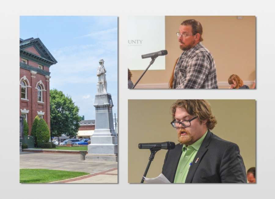 Commissioners asked to rethink Confederate monuments