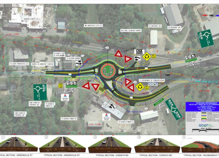 Council approves lighting agreement for roundabout at Corinth Road