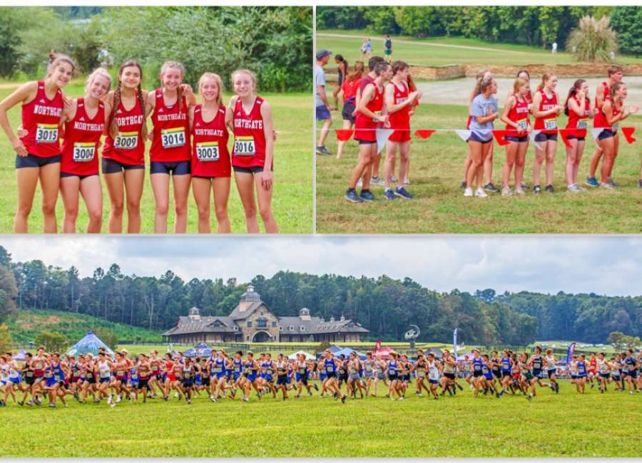 Cross-Country action at the Asics Invitational