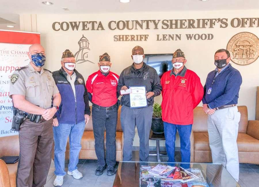 Deputy honored by VFW