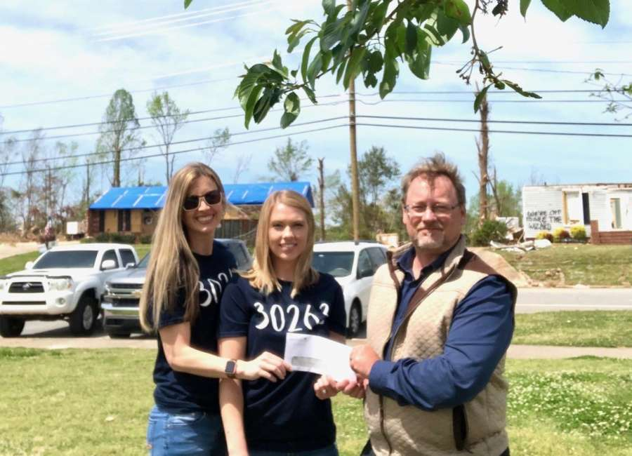 Donations of all sizes build tornado relief fund