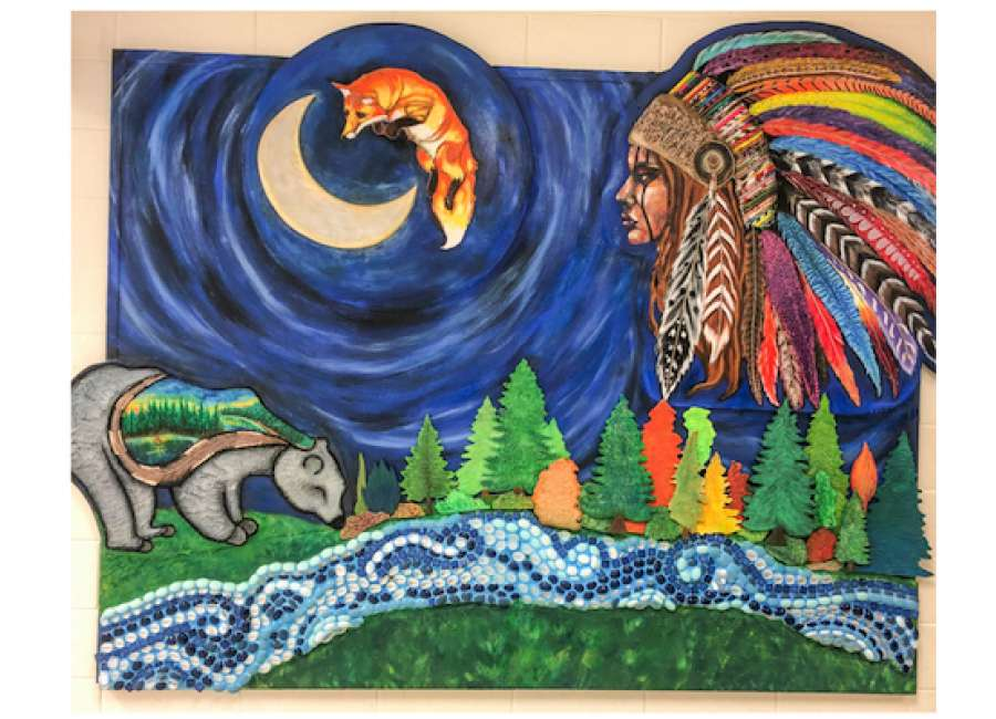 ECHS artwork pays tribute to the Native American woman