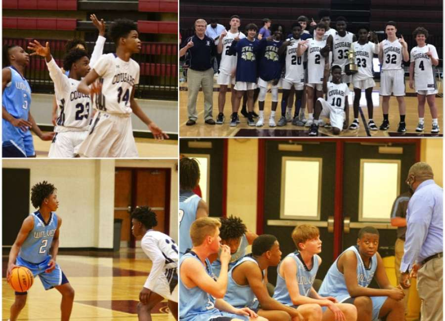 Evans Cougars win County Middle School basketball championship