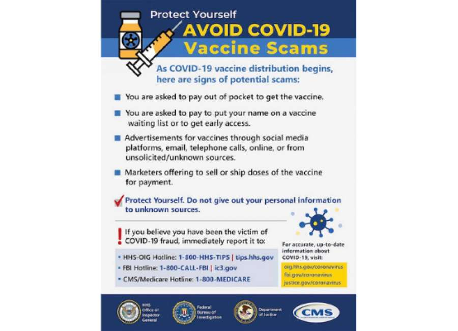 FBI warns of COVID-19 vaccine scams