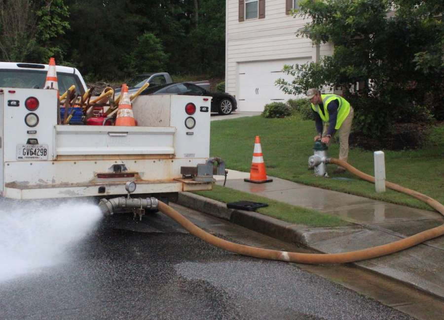 Fire hydrants flushed for safety, cleanliness of drinking water