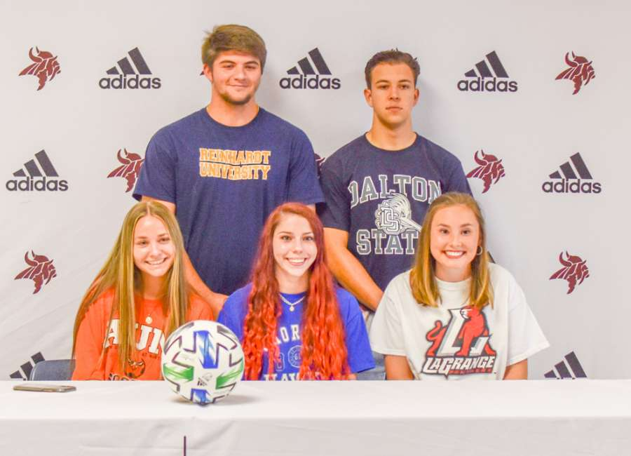 Five from Northgate soccer sign