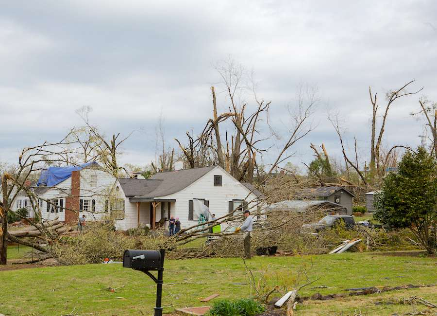 Where are tornado relief donations going?