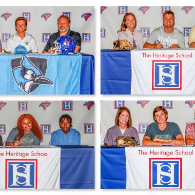 Four Heritage athletes ink college deals