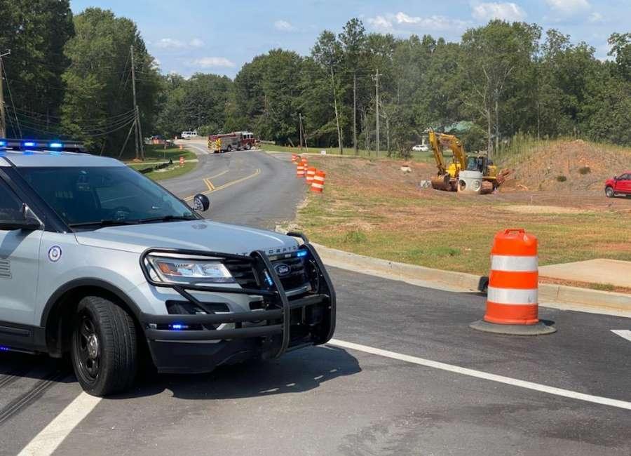 Gas line shuts down Highway 16 in Senoia