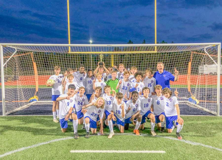Heritage Middle School boys win District Championship
