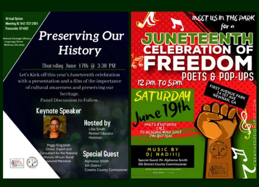 History preservation, celebration events planned for Juneteenth