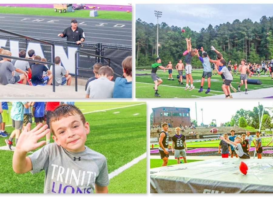 Junior football camp sees large turnout at Trinity Christian