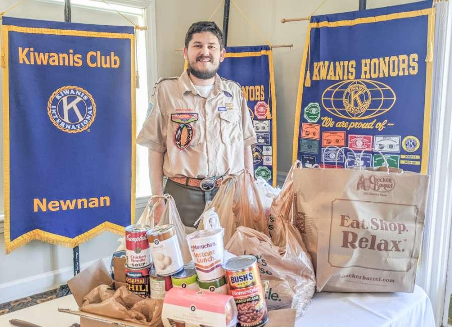 Kiwanian spearheads canned food drive