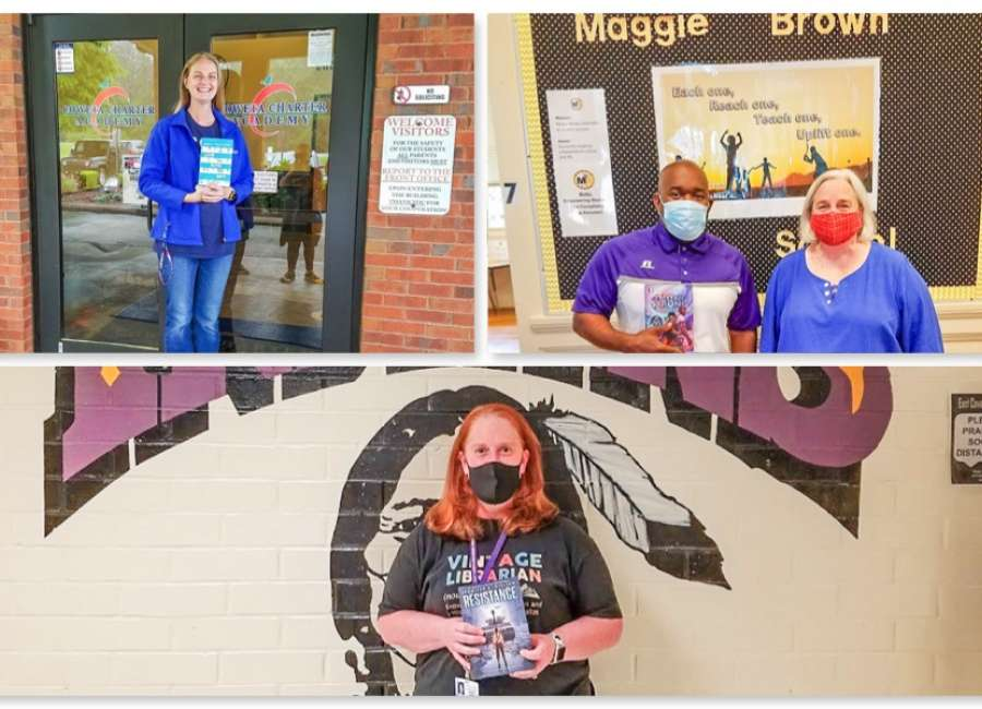 Library foundation presents books to Coweta middle schools