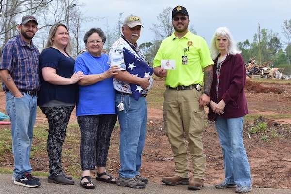 Lost American flag of veteran returned after tornado