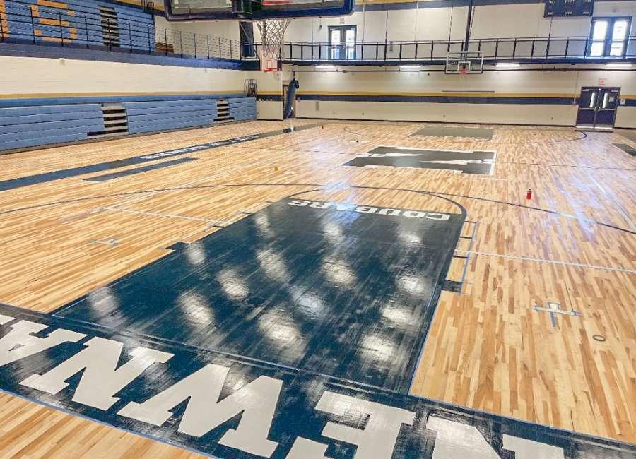 Max Bass Gymnasium restoration in progress