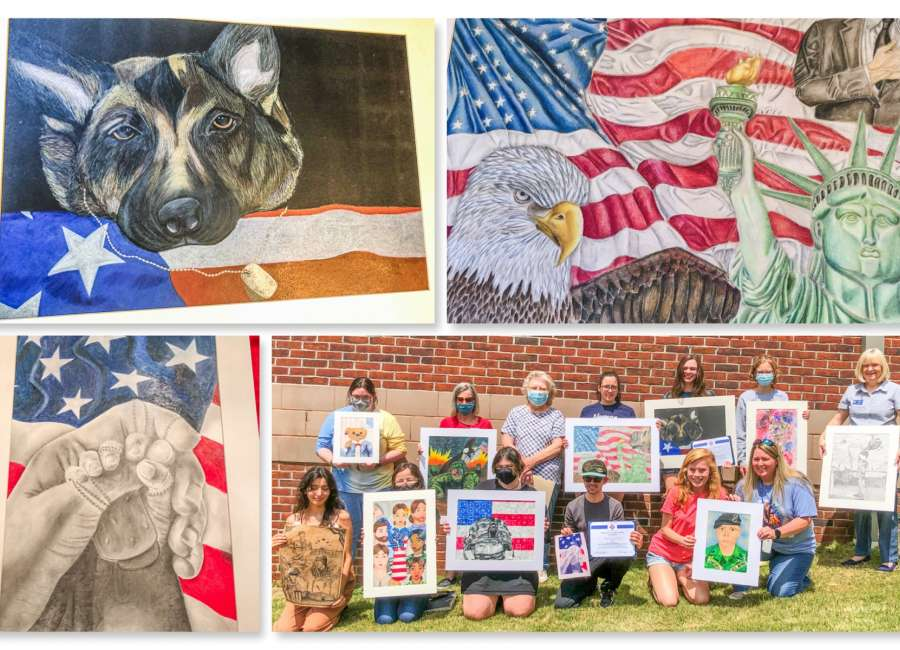 Newnan students participate in VFW art contest