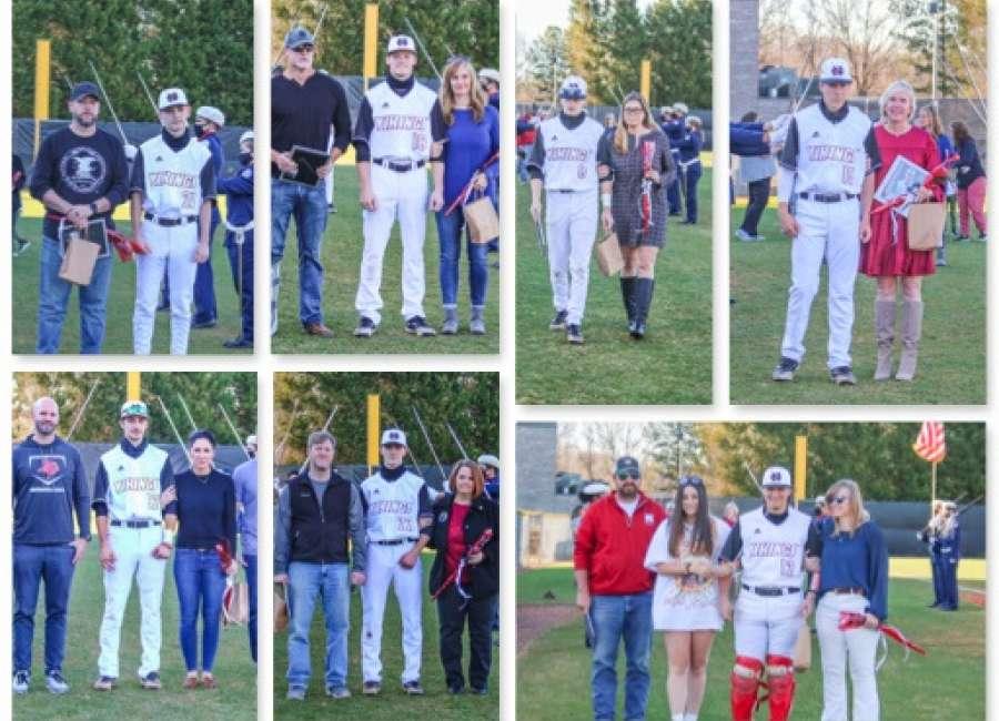 Northgate Vikings baseball team celebrate 2021 senior class