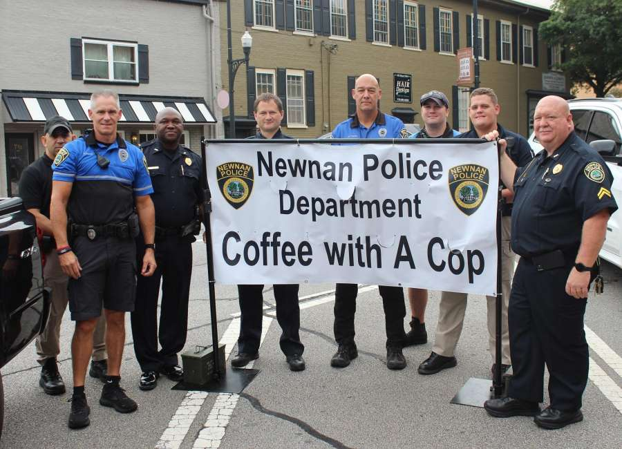NPD officers engage with residents at Coffee With a Cop