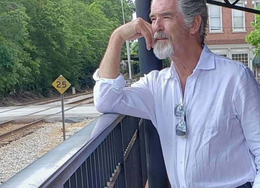 Pierce Brosnan visits Newnan