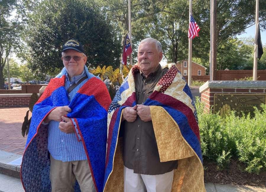 Quilts of Valor presented at Veterans Memorial Park