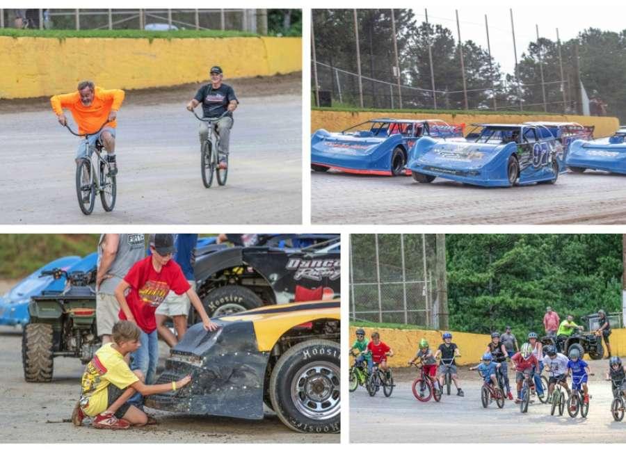 Rain cuts Saturday night racing short