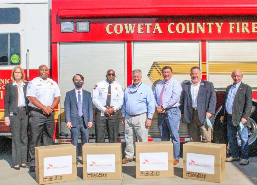 SK Battery donates 2,000 masks to Coweta Fire Rescue