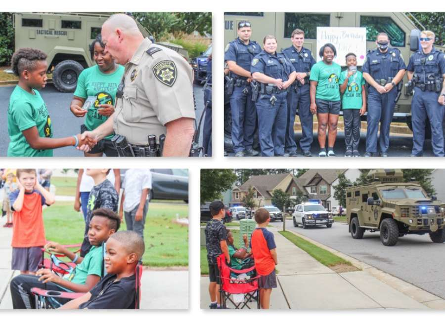 The coolest birthday ever? 11-year old Newnan resident feted by first responders for birthday