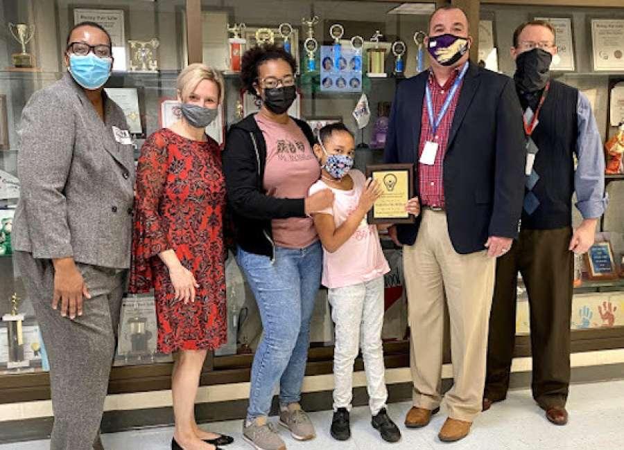 Third grader at Ruth Hill earns gifted student award