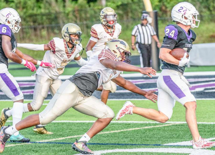Trinity Christian rolls in spring game