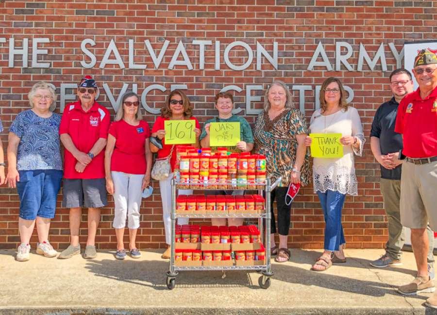 VFW donates peanut butter