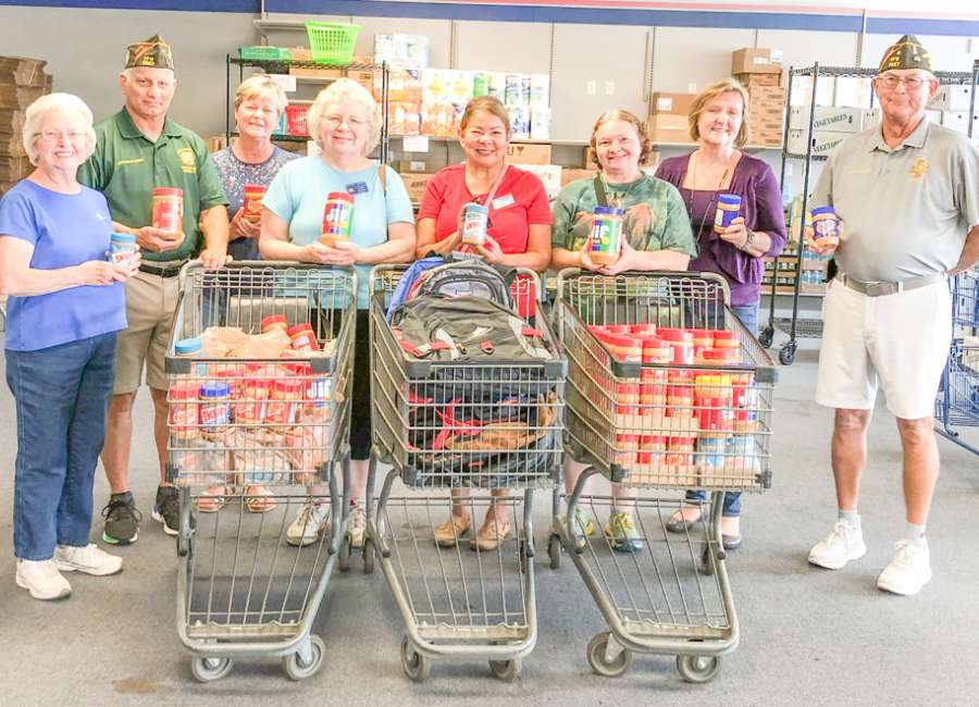 VFW makes largest peanut butter donation to date