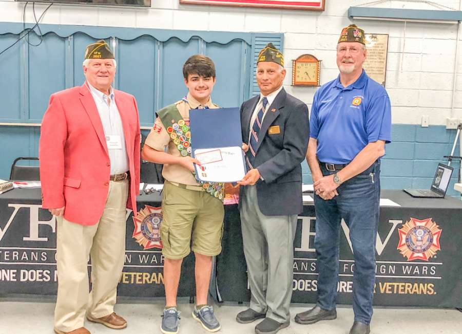 VFW Post 2667 names Montequin Scout of the Year