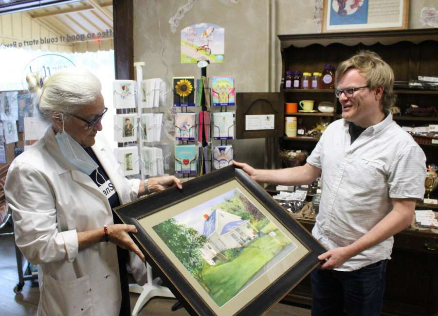 Watercolor painting gifted to tornado victim
