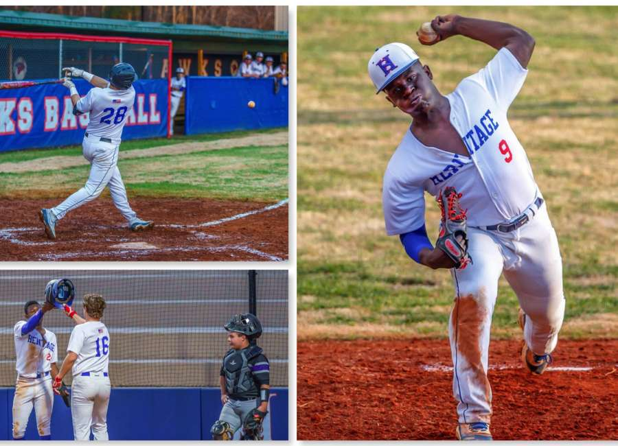 White homers in Heritage baseball scrimmage